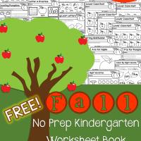 Fall No Prep Kindergarten Free 50 Page Work Book