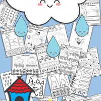 Free Printable Spring No Prep Kindergarten 130+ Page Worksheet Book