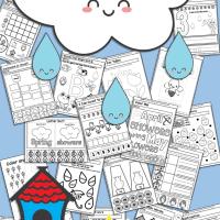 Free Printable Spring No Prep Kindergarten 130+ Page Worksheet Book