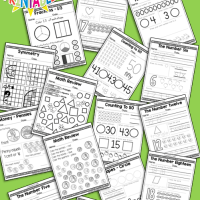 Kindergarten Daily Math Practice Worksheets - 180 Page Work Book