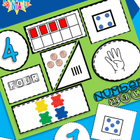 Free Printable Number Sense Number Mats From 1 to 10 Preschool and Kindergarten