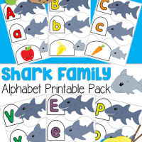 Shark Family Alphabet Puzzles Preschool and Kindergartners