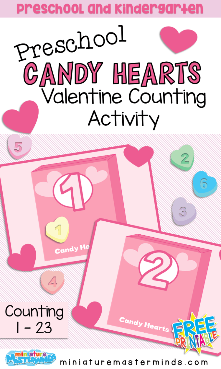 Valentine Counting Mats For Preschoolers