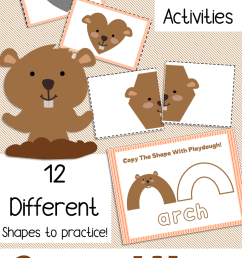 Free Printable Groundhog Shadow Shape Matching 3 Fun Hands On Preschool  Activities – Miniature Masterminds [ 1280 x 768 Pixel ]