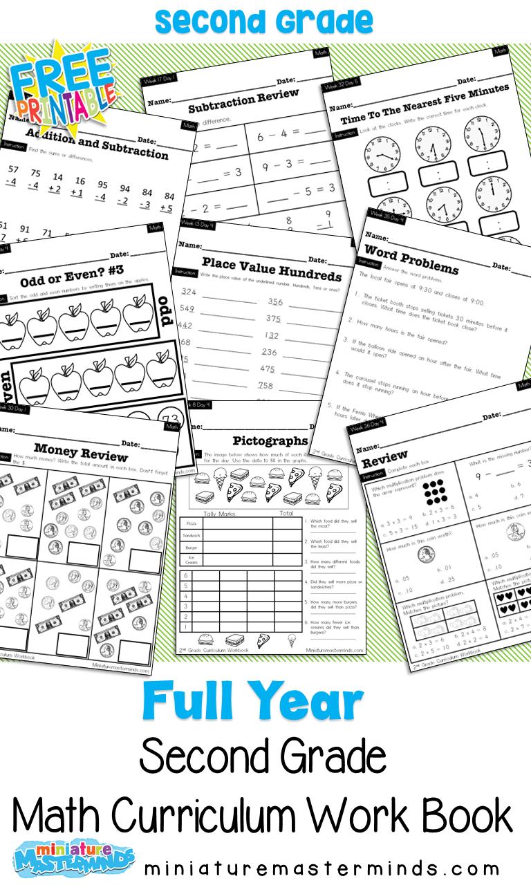 medium resolution of No Prep Second Grade Math Curriculum Full Year – Miniature Masterminds