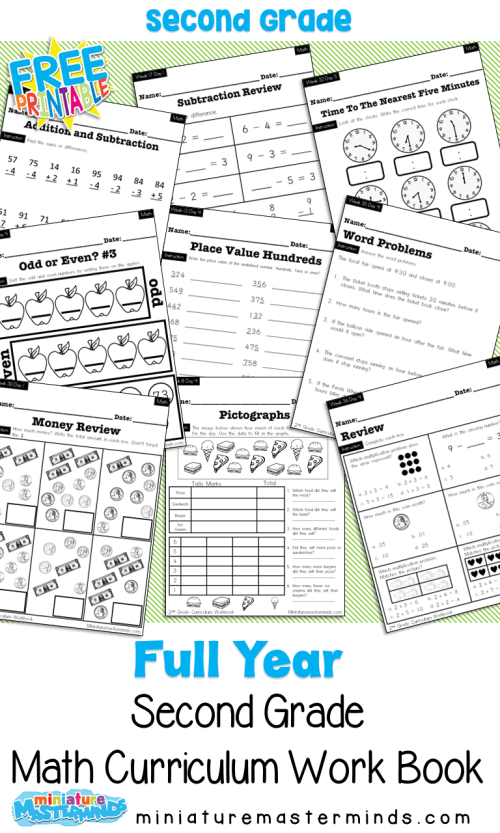 small resolution of No Prep Second Grade Math Curriculum Full Year – Miniature Masterminds