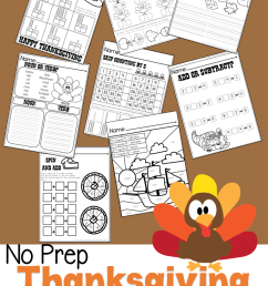 First Grade Thanksgiving No Prep Math and Language Arts Practice Pack –  Miniature Masterminds [ 1280 x 768 Pixel ]