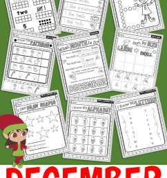 December No Prep Preschool Pack Christmas Themed Worksheets and Activities  – Miniature Masterminds [ 1280 x 768 Pixel ]