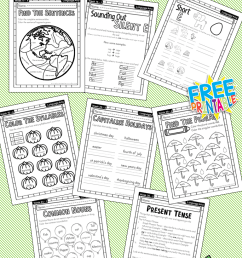 First Grade Language Arts Full Year Work Book – Miniature Masterminds [ 1280 x 768 Pixel ]