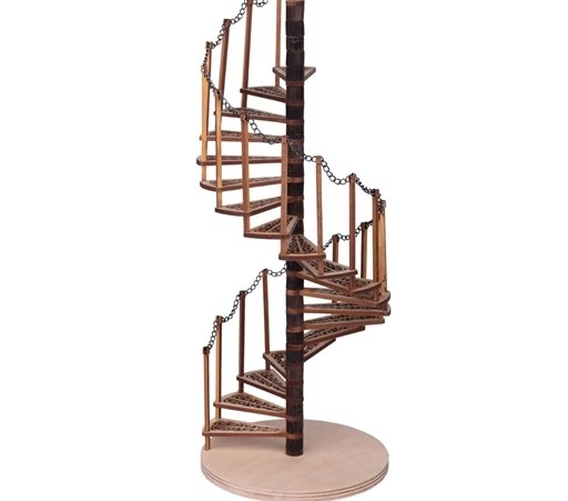 Dollhouse Spiral Staircase Kit Dollhouse Stairs Kit   10 Ft Spiral Staircase   Arke Eureka   Balcony Railing   Lowes   Gray Interior   Attic Staircase