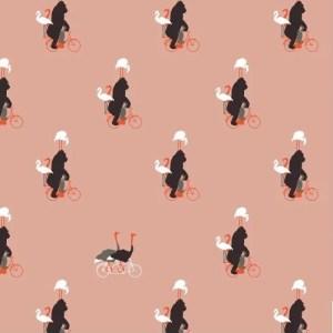 French terry - Gorilla rose Bio