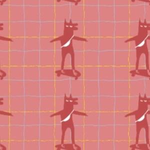French terry - Skatoloup Le loup Art Bio