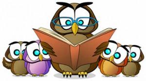 Owlreadingtobabyowls