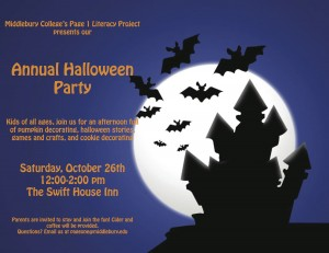 Page One Halloween Party Poster Final copy