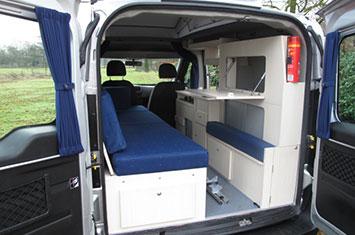 De Ford Transit Connect is de basis voor de minicamper