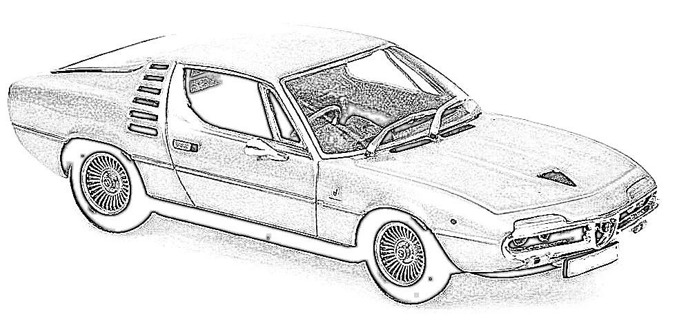 Alfa Romeo Montreal en miniatura a escala