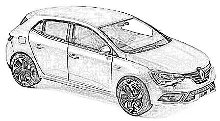 Renault Megane en miniatura a escala
