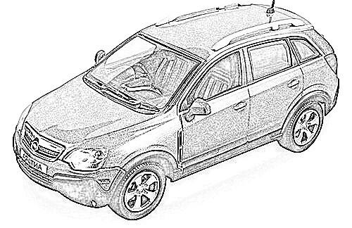 Opel Antara coches en miniatura a escala