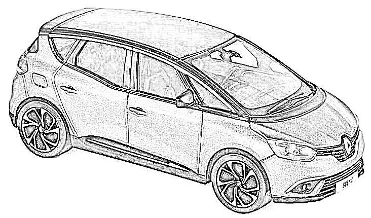 Renault Scenic en miniatura a escala