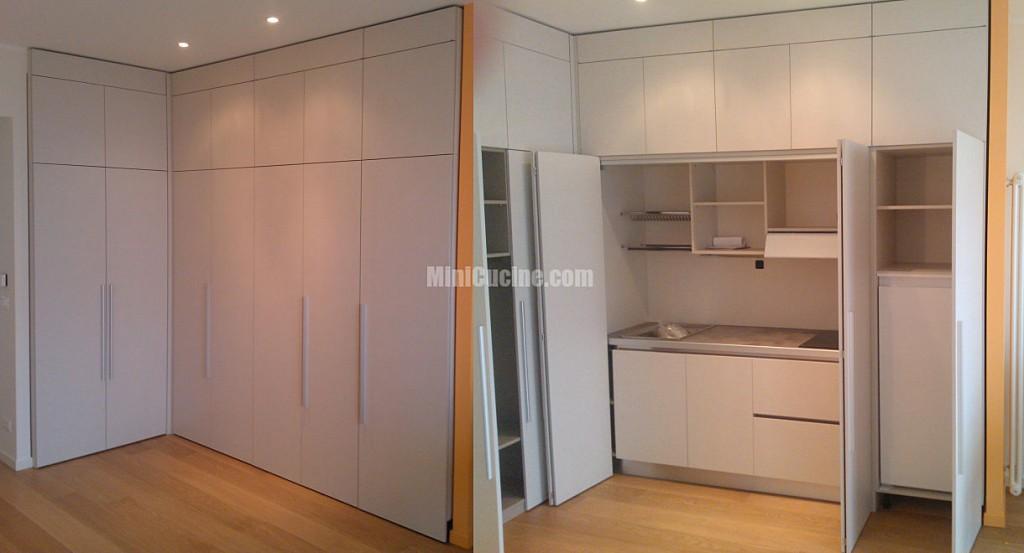 Cucina armadio a scomparsa su misura  Mini Cucine moderne