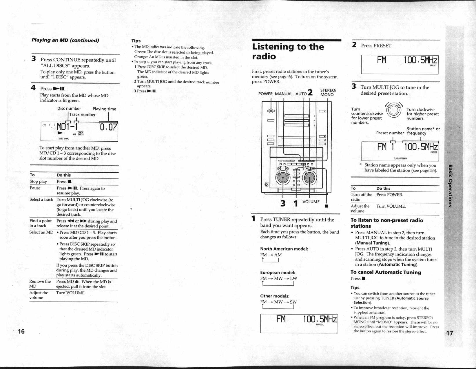 Sony DHC-MD515 manual