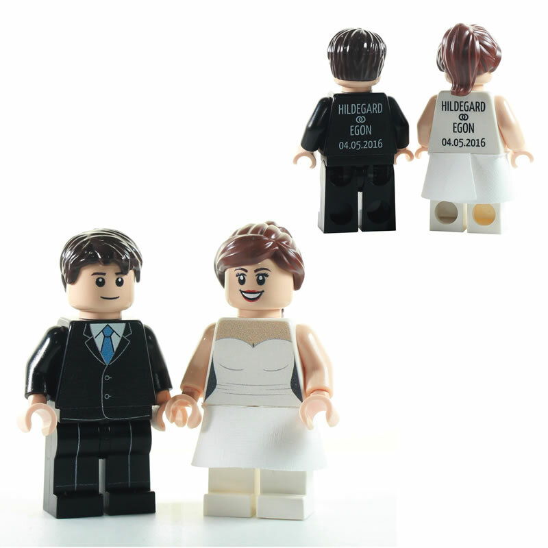 Custom Minifiguren personalisiertes Brautpaar  MINIFIGURENcom