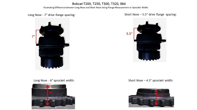 Bobcat T200 T250 T300 T320 864 Long Final Drive Travel