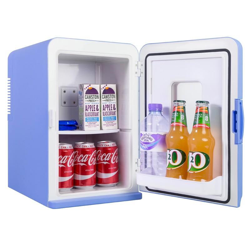 iceQ 15 Litre Deluxe Portable Mini Fridge With Window  Blue
