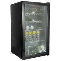 iceQ 93 Litre Under Counter Glass Door Display Fridge ...