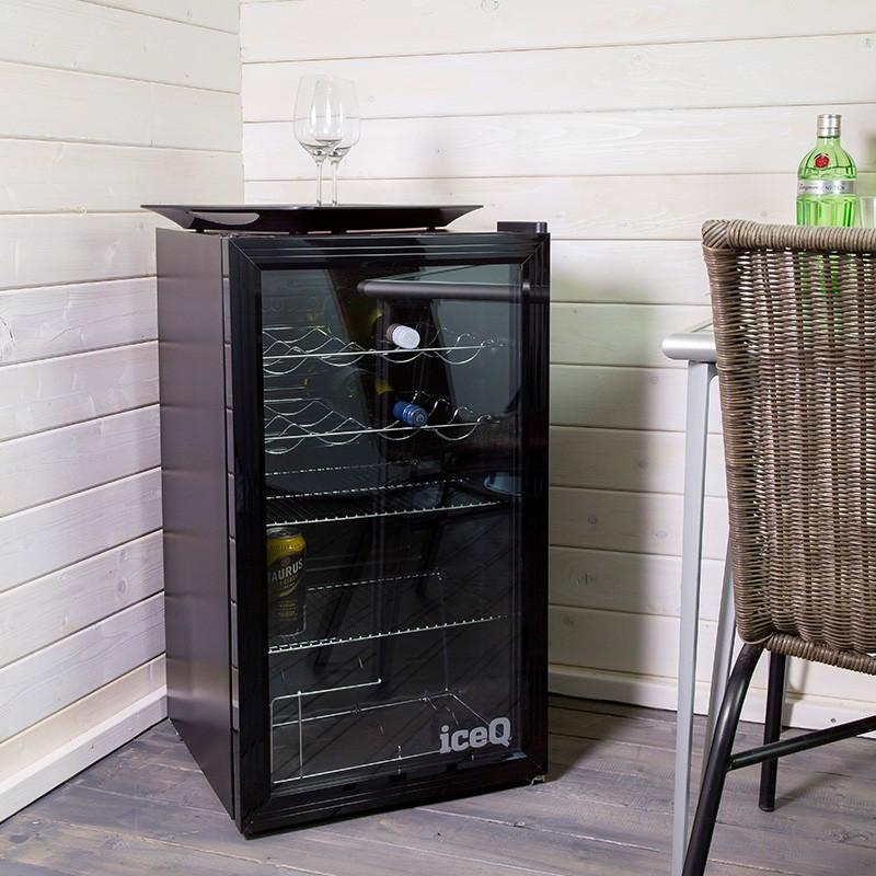 iceQ 93 Litre Under Counter Glass Door Display Fridge  Glass Door Display Fridges  Fridges