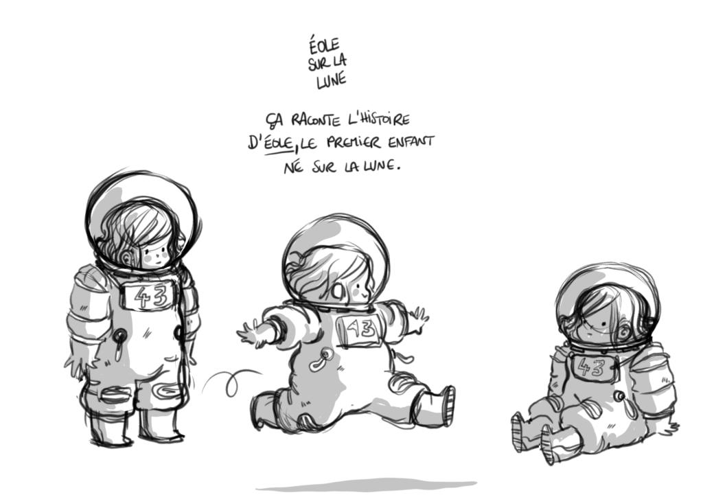 Astronaute enfant Vivre sur la lune Voyager dans l'espace