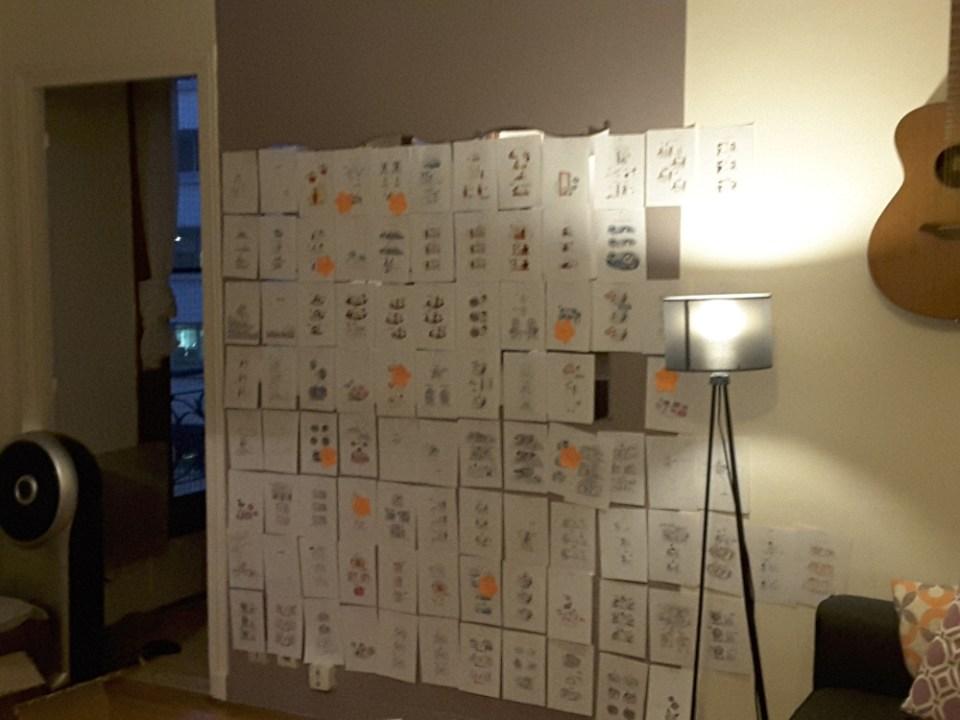 travail du scénariste, travail en cours, flora, 30 ans 2 chats, bamboo, édition bamboo, storyboard de bande dessinée, scenario, écriture de scénario, chemin de fer bande dessinée, les coulisses de la création
