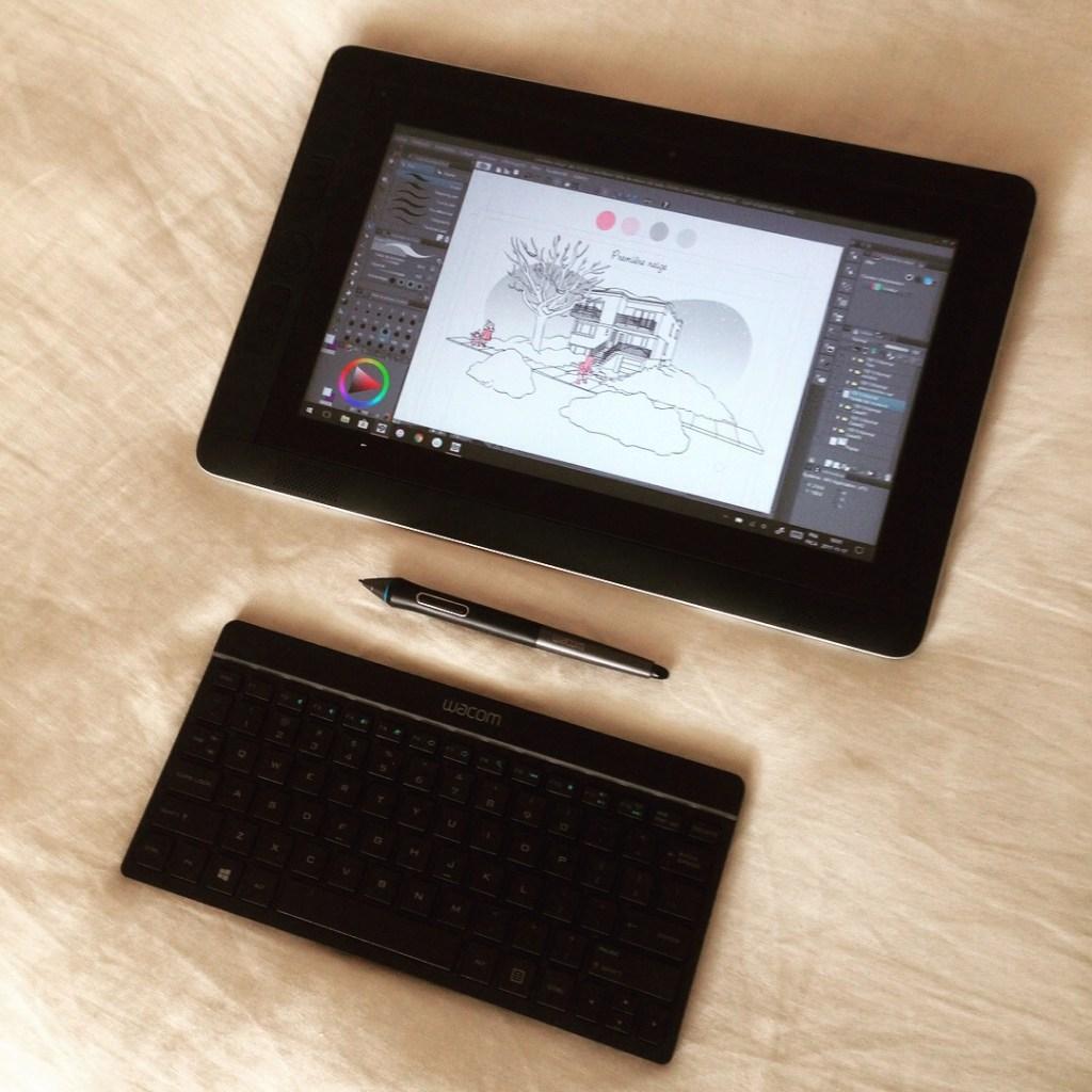 wacom cintiq companion, MiniKim, tablette graphique pour bande dessinée, BD, dessin numérique, dessin digital, wacom