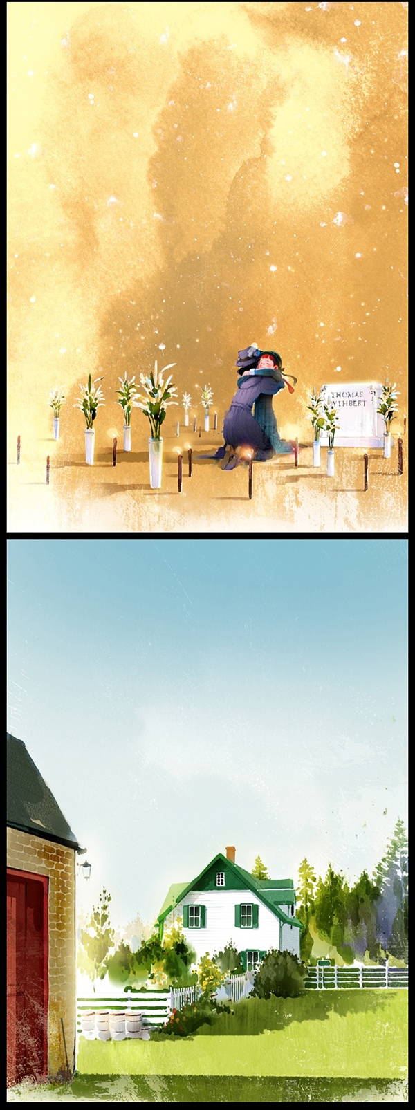 Kim Ji-Hyuk, Anne of green gables, Anne la maison aux pignons verts, l'île du Prince Edouard, Canada, Anne avec un e, illustration, auteur, artiste, artiste coréen, Corée, matthew cuthbert, Marilla cuthbert, Anne Shirley, Gilbert Blythe