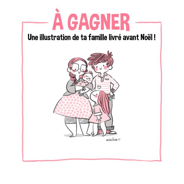 Concours, famille illustrée, ma famille en dessin famille, illustration, illustration de famille, Minikim,