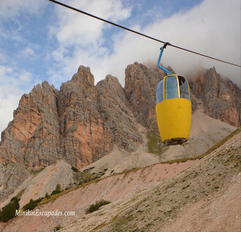 Cable car to Mt Cristallo