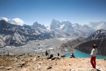 Ngozumpa glacier and Gokyo Village