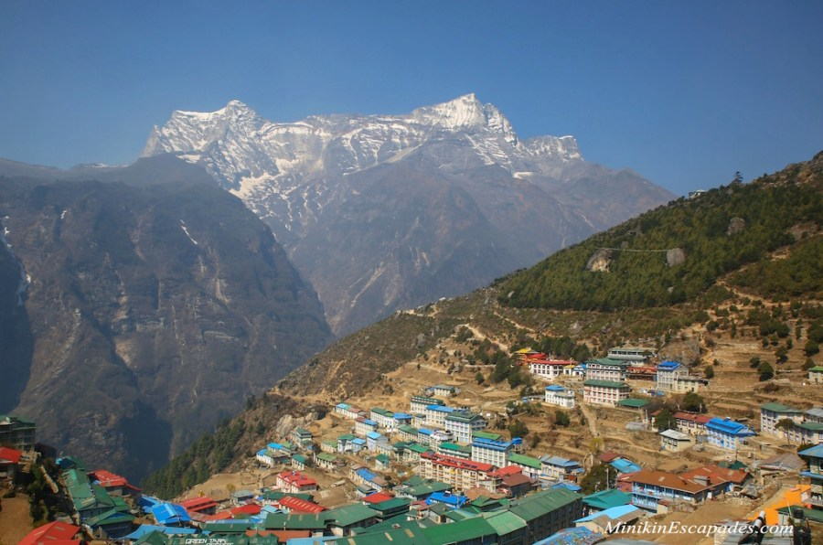 The colorful tea houses of Namche Bazaar