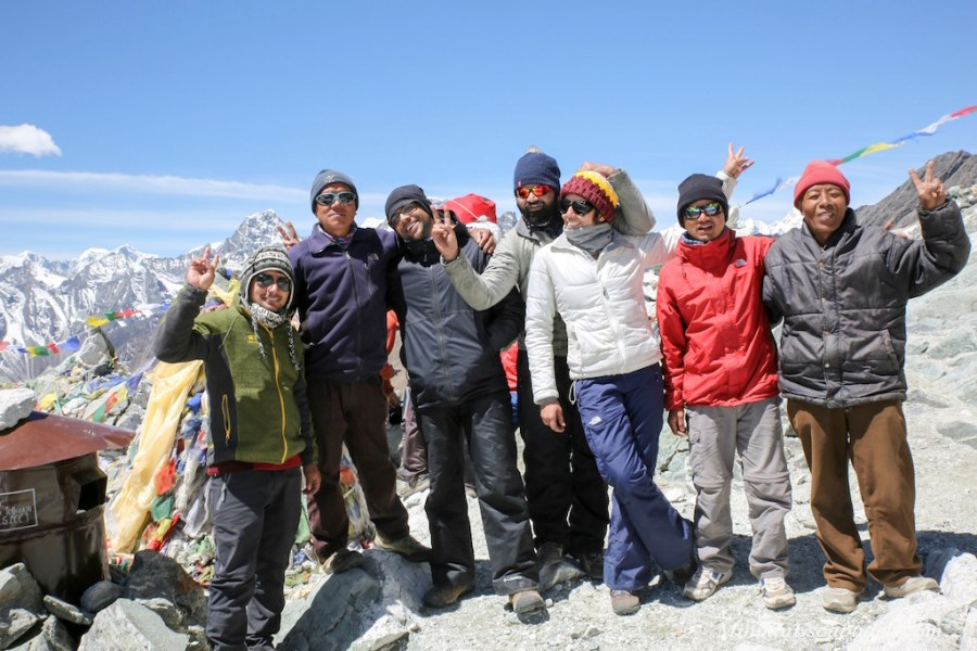 The top of cho la pass, Everest high passes trek
