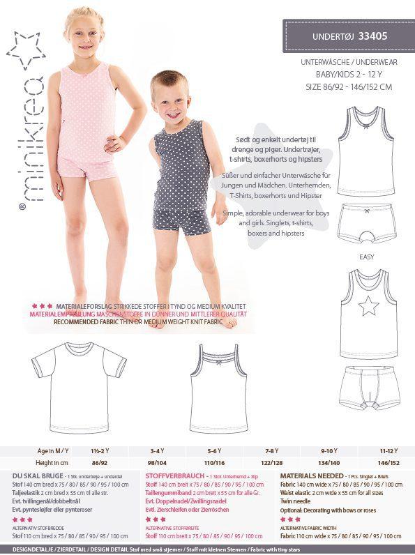 33405 Underwear  paper pattern  Minikrea