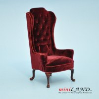 Luxurious Elegant Quality Tall Wingback Chair Royal RED ...