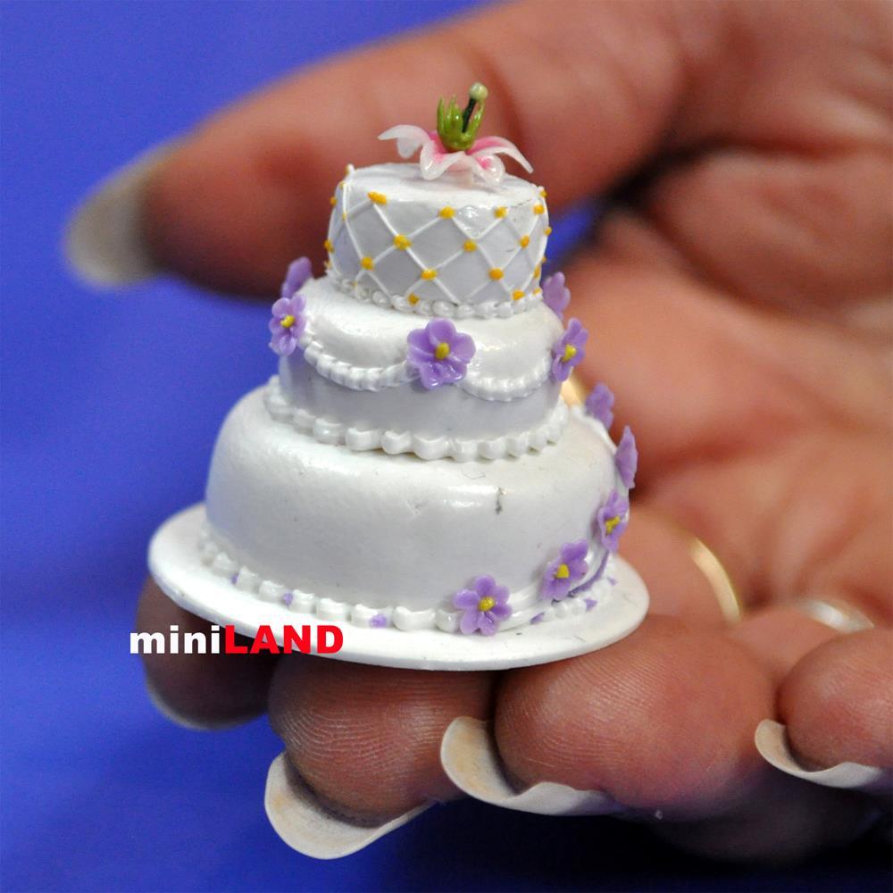 Wedding Cake For 112 Scale Dollhouse Miniature Handmade
