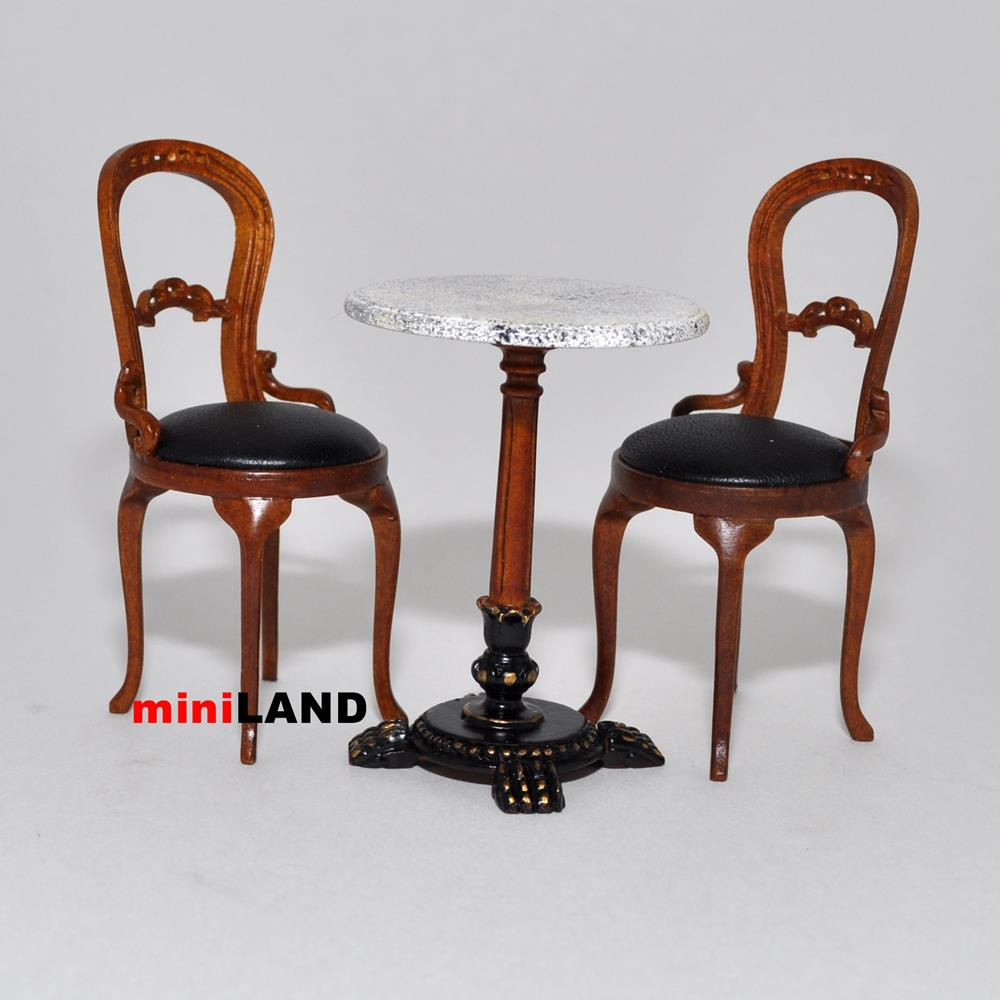 restaurant supply chairs levon showood accent chair bistro table and 2 quality coffee shop dollhouse miniature 1