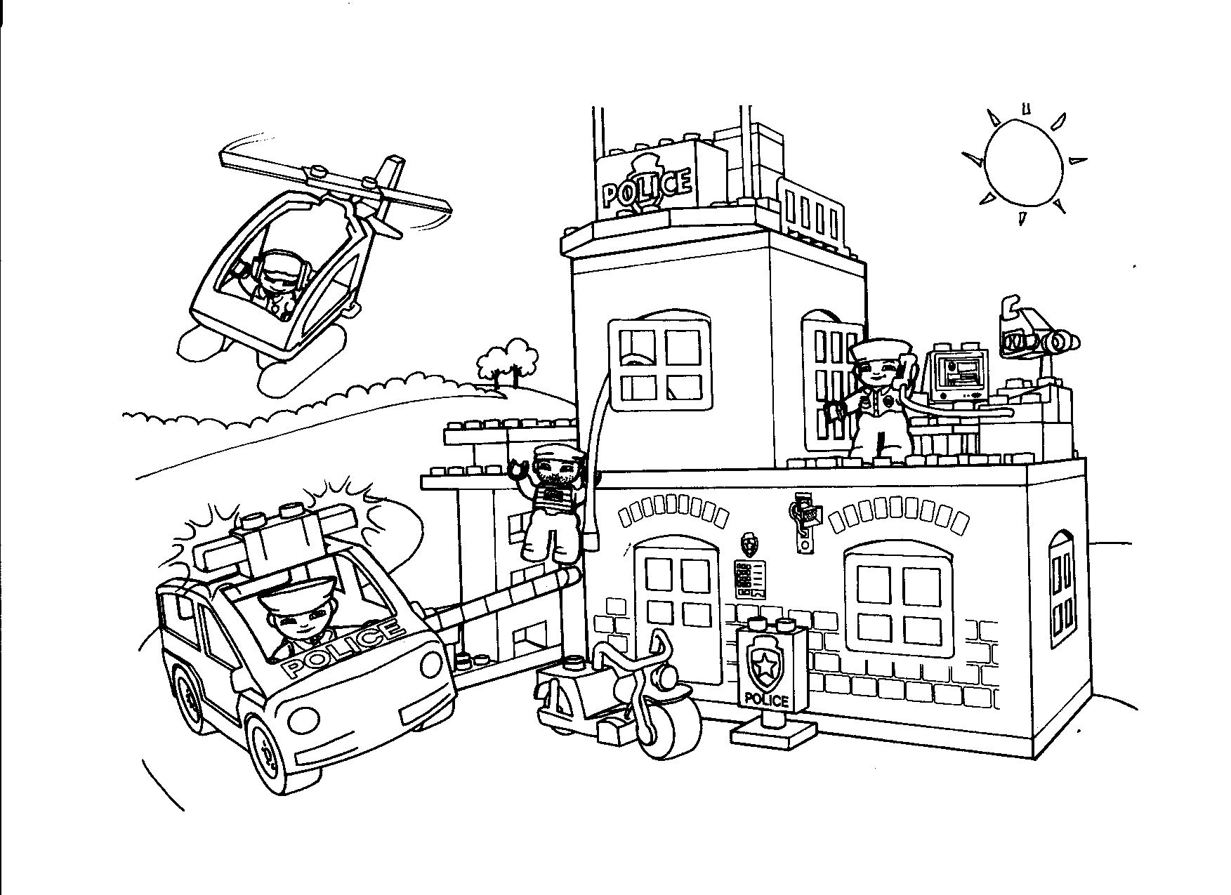 15 Kleurplaat Lego City Politie Auto Electrical Wiring Diagram