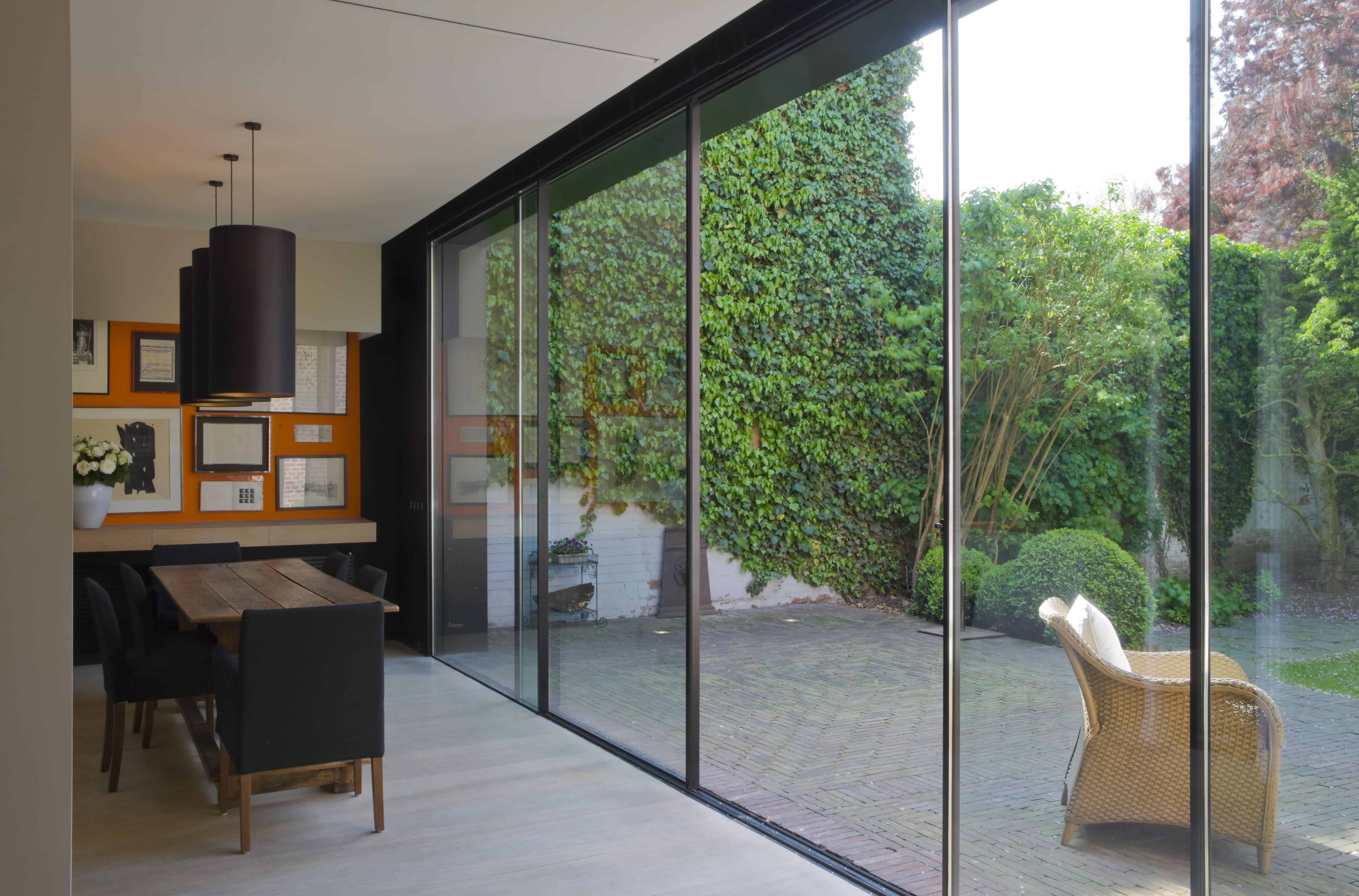 Modern patio doors bi fold doors vs sliding doors for Back door sliding door