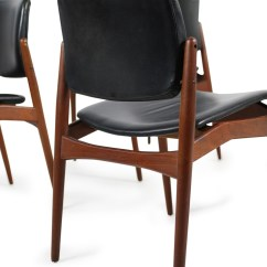 Erik Buck Chairs Tobias Chair Review Set Of 5 Teak And Leather Mod 66 Ørum