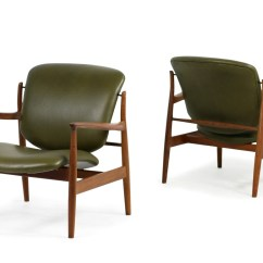 Finn Juhl Sofabord Teak Rocking Sofa Chair Slipcover Pair Of 1950s Lounge Easy Chairs Mod Fd 136