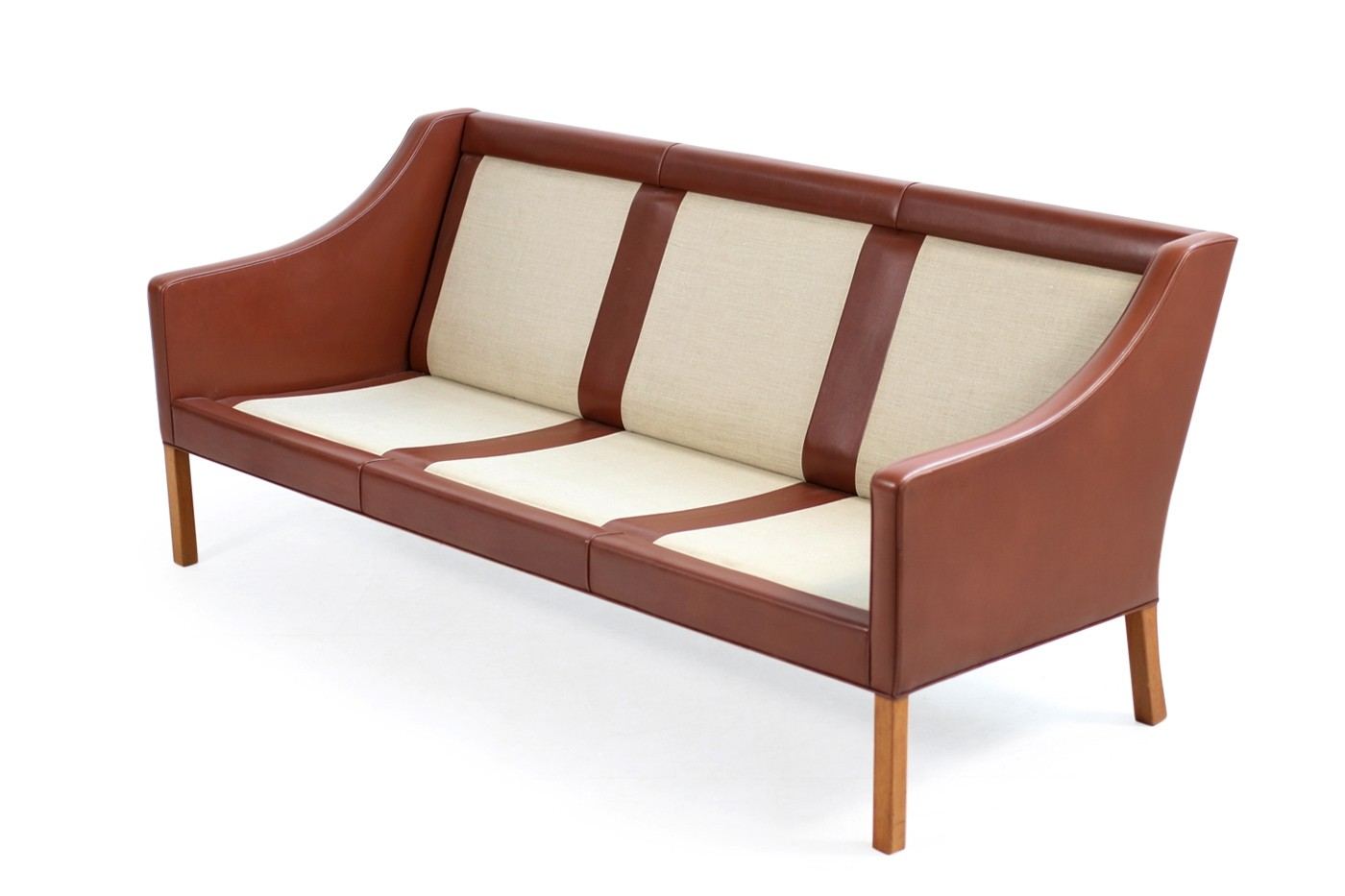 mogensen sofa 2209 sleeper sofas that come apart 1960s borge leather mod by fredericia