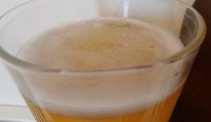 A weak head on this light Pale Ale
