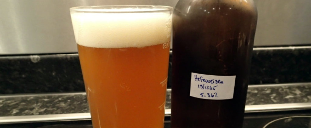 Foamy and carbonated Hefeweizen